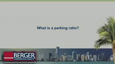 What is a parking ratio?