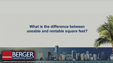 What is the difference between useable square feet and rentable square feet?