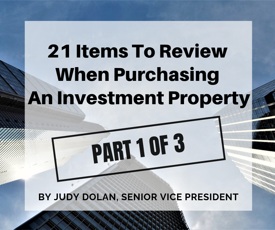 21 Items To Review When Purchasing An Investment Property – Part 1