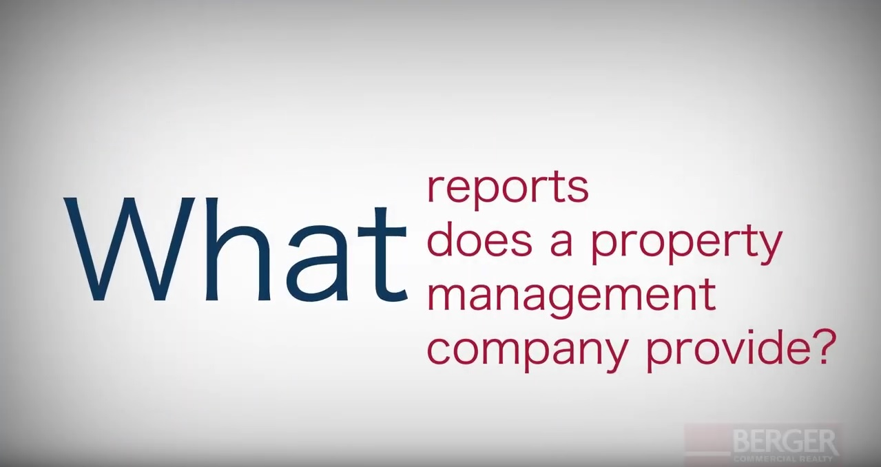 What reports does a property management company provide?