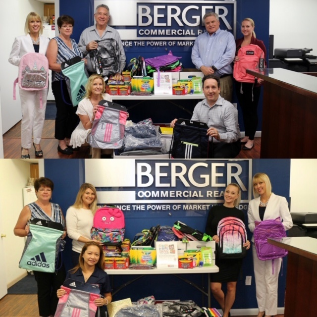 Berger Commercial Realty Collects Supplies For  Children's Diagnostic & Treatment Center's Back To School Drive