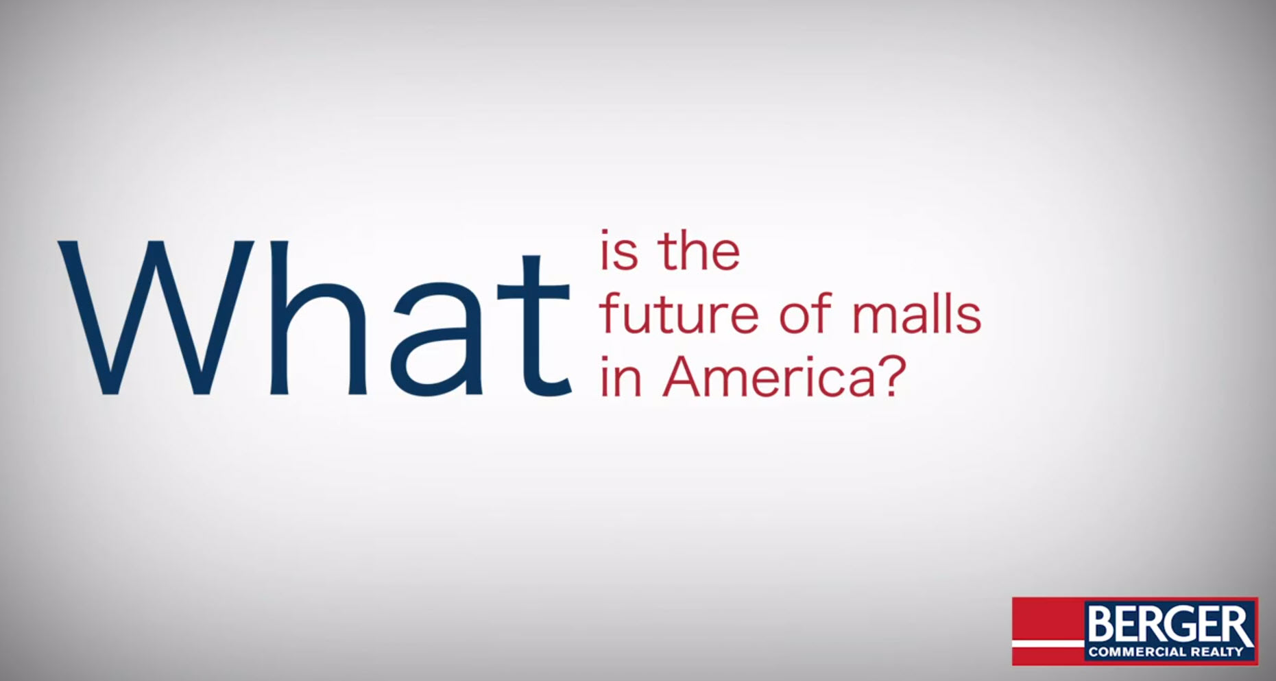 What is the Future of Malls in America?